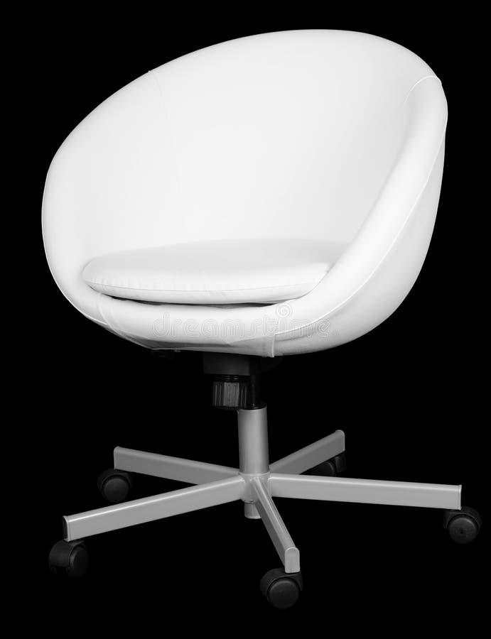 Silla blanca moderna de cuero de la oficina imagen de for Silla oficina moderna