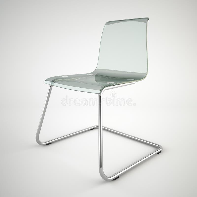 Silla De Cristal Moderna De IKEA Aislada En El Fondo Blanco Imagen ...