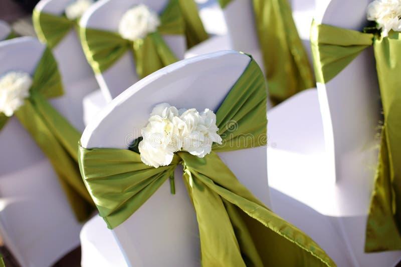 Silla de la boda foto de archivo