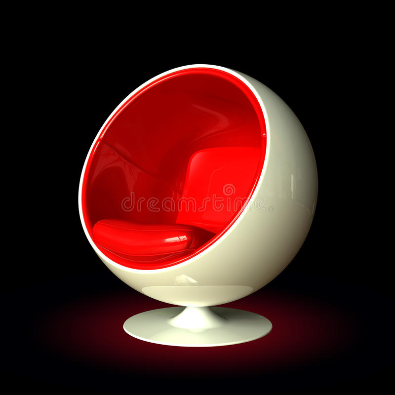 Silla de la bola ilustración del vector