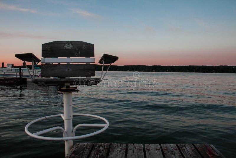 Silla de la puesta del sol imagen de archivo libre de regalías