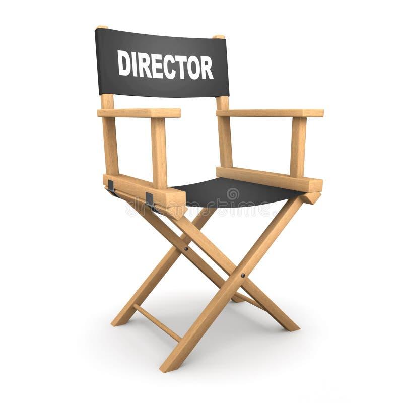 silla de los directores 3d ilustración del vector