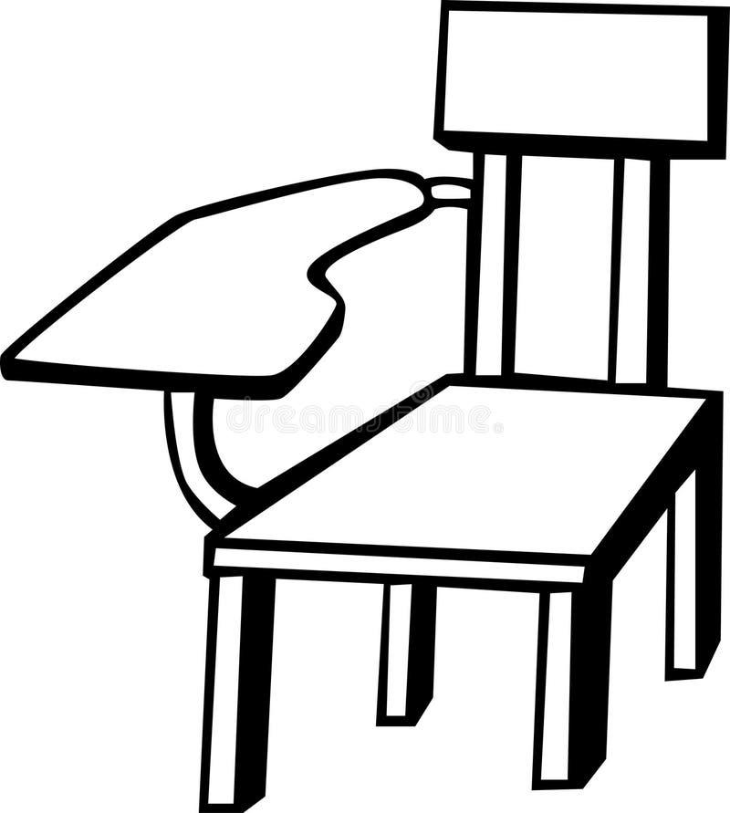 Silla de madera de la escuela ilustración del vector