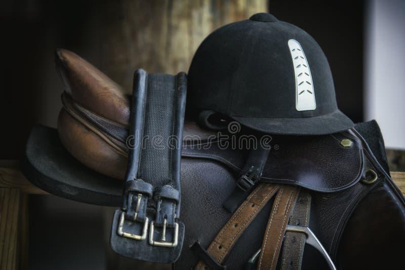 Silla de montar del caballo imagenes de archivo