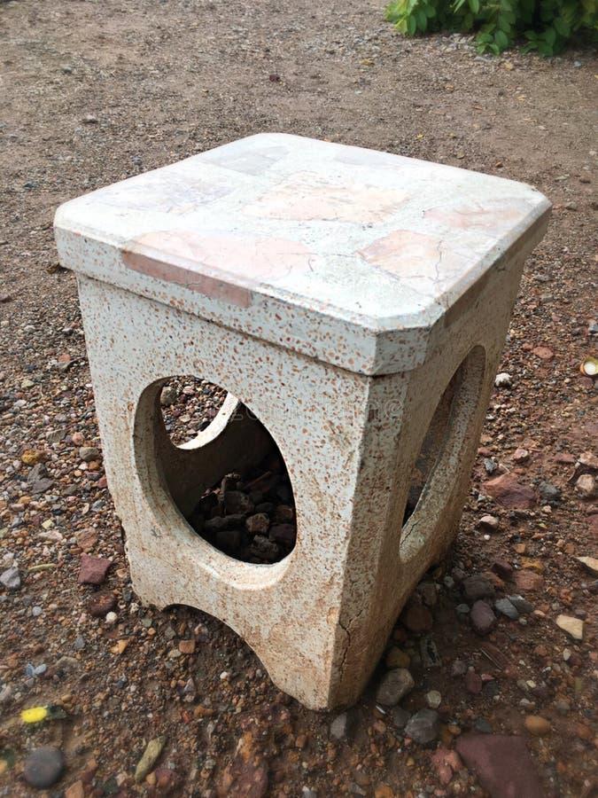 Silla de piedra imagen de archivo libre de regalías
