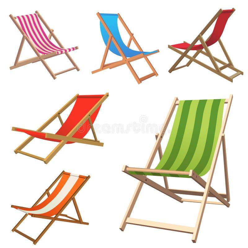 Silla de playa stock de ilustración