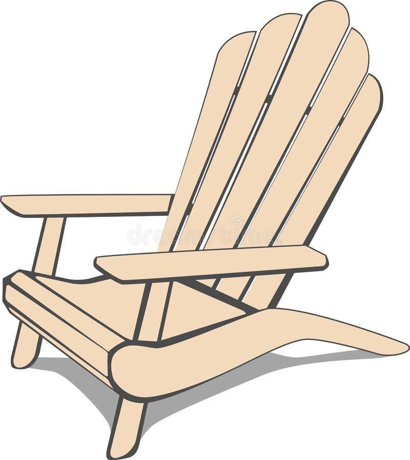 Silla de playa de Adirondack ilustración del vector