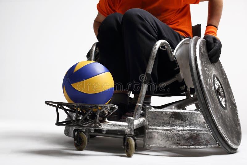 Silla de ruedas discapacitada foto de archivo libre de regalías