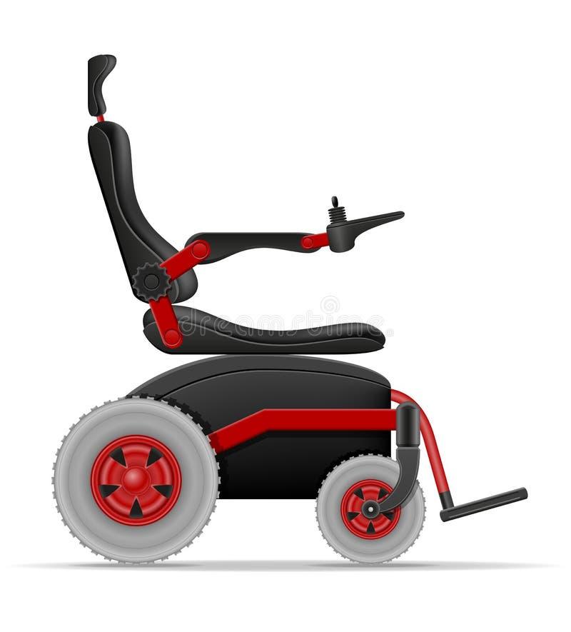 Silla de ruedas eléctrica para el vector común de las personas discapacitadas ilustración del vector