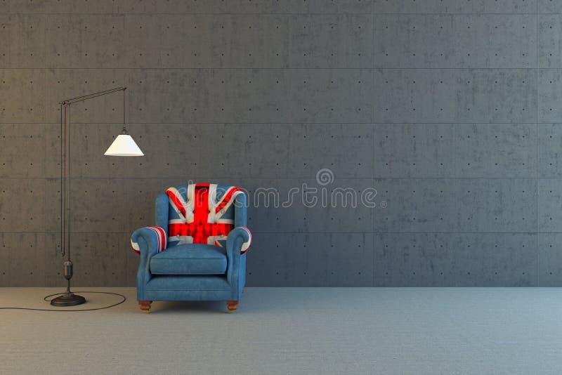 Silla de Union Jack ilustración del vector