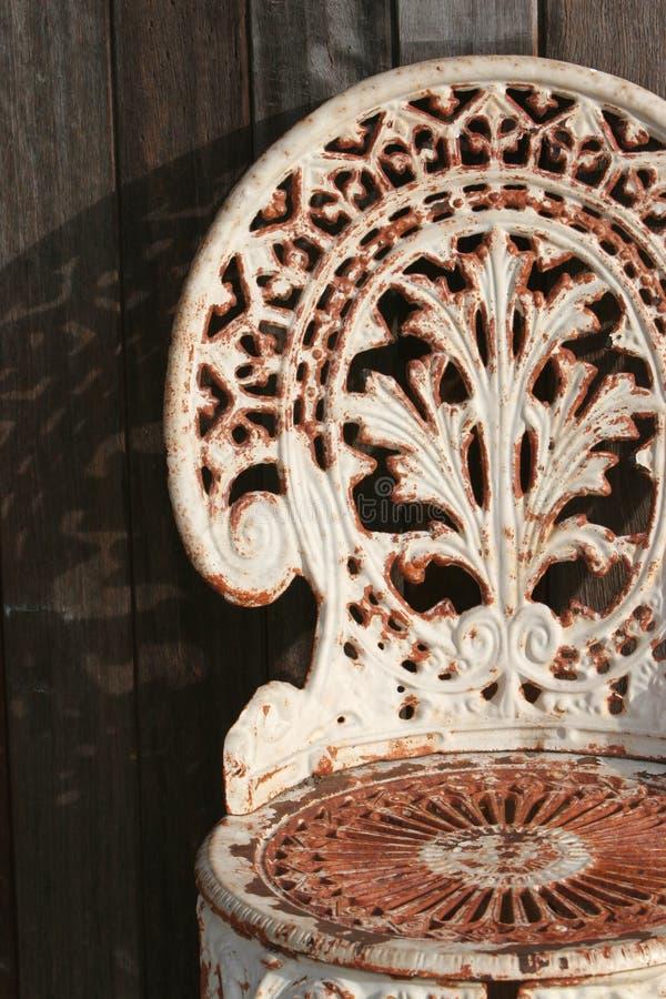 Silla del hierro labrado foto de archivo