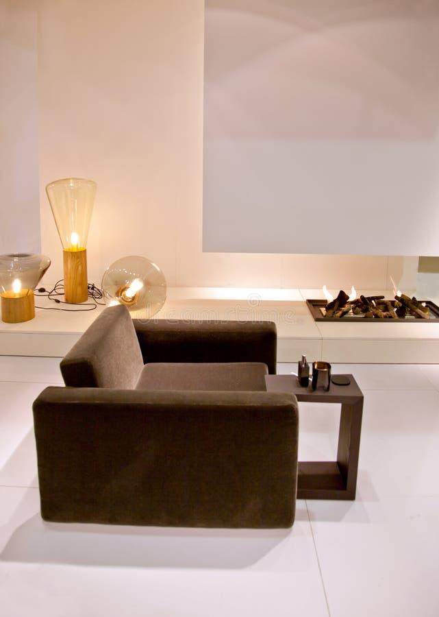 Silla en sala de estar imagen de archivo libre de regalías