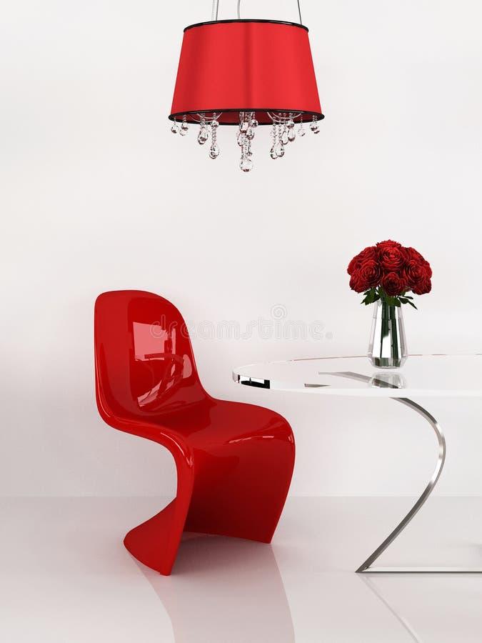 Silla moderna en interior del minimalism. Muebles foto de archivo
