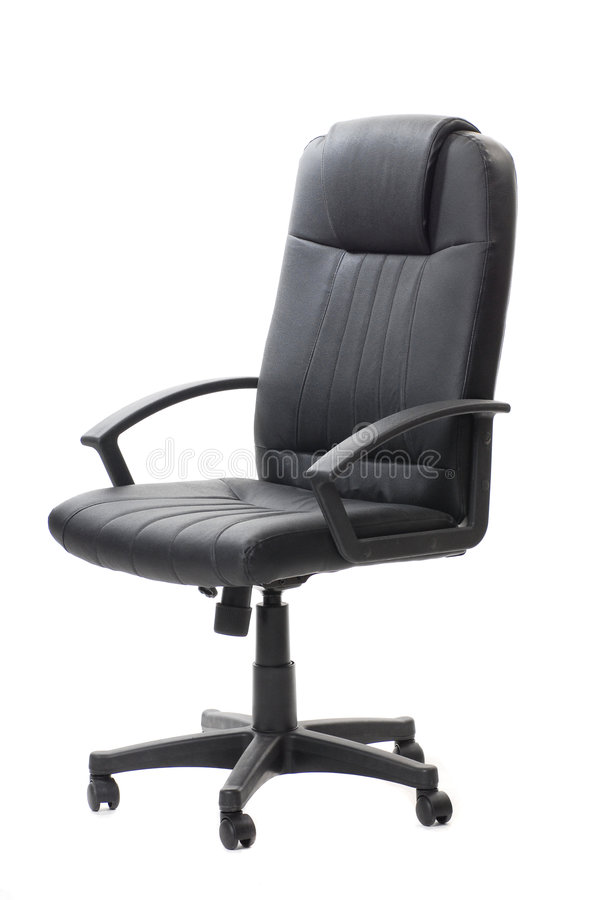 Download Silla negra de la oficina imagen de archivo. Imagen de marrón - 7151417