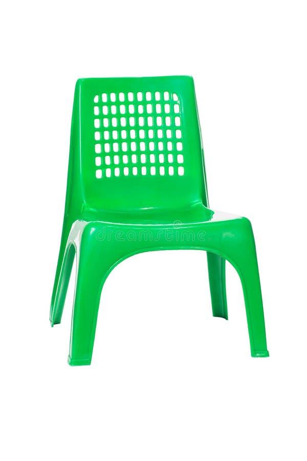 Silla plástica verde foto de archivo