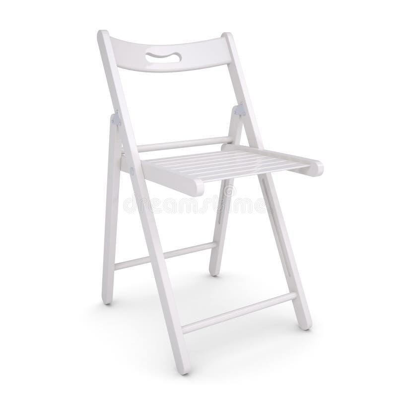 Silla plegable blanca stock de ilustraci n ilustraci n de for Silla plegable blanca