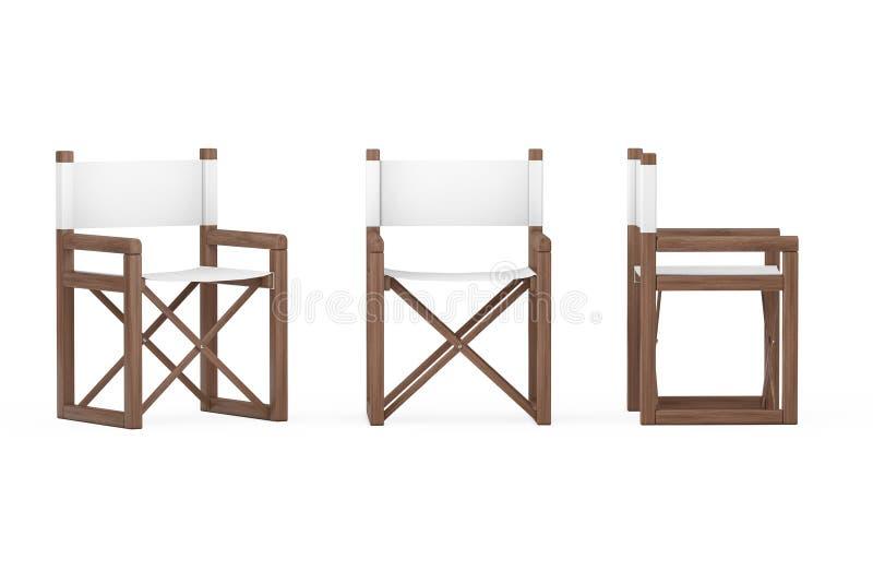 Silla plegable de madera moderna del director o de jardín representación 3d ilustración del vector