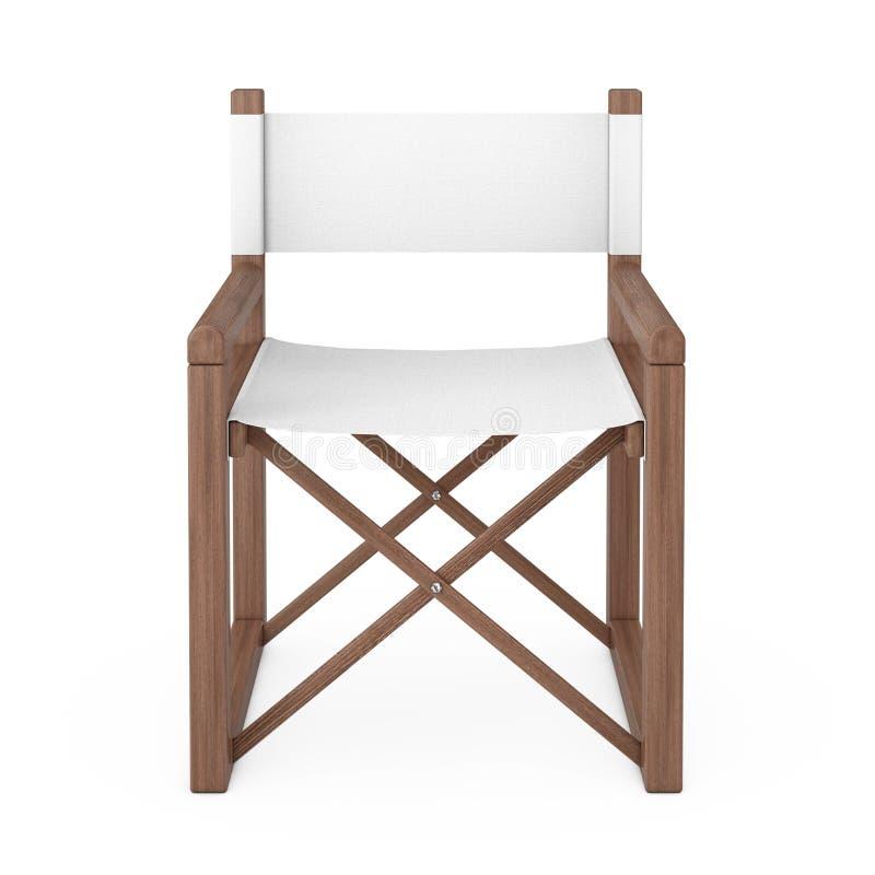 Silla plegable de madera moderna del director o de jardín representación 3d libre illustration