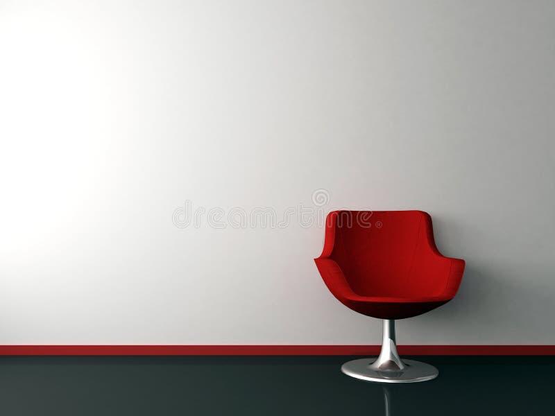 Silla roja stock de ilustración