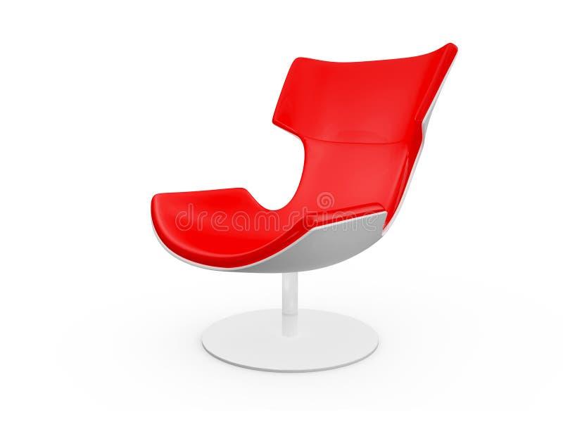 Silla roja moderna stock de ilustración