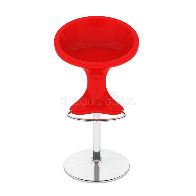 Silla roja moderna de la barra representación 3d stock de ilustración