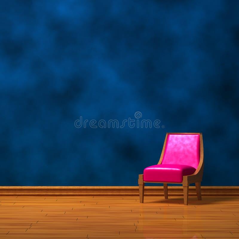 Silla rosada cerca de una pared abstracta libre illustration
