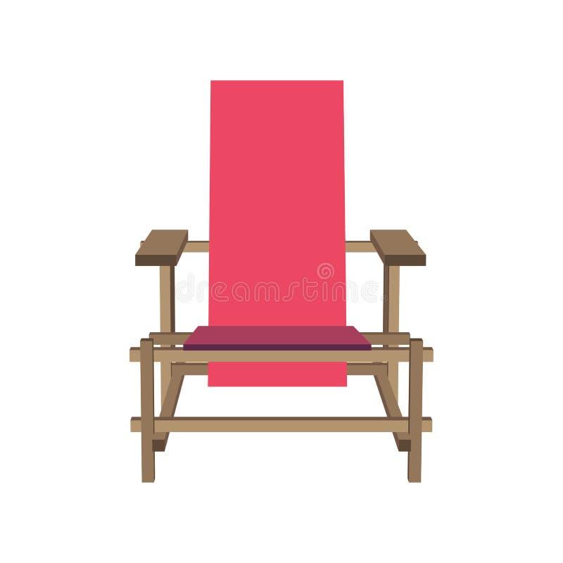 Silla rosada del vector libre illustration