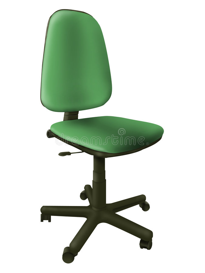Silla verde de la oficina fotos de archivo