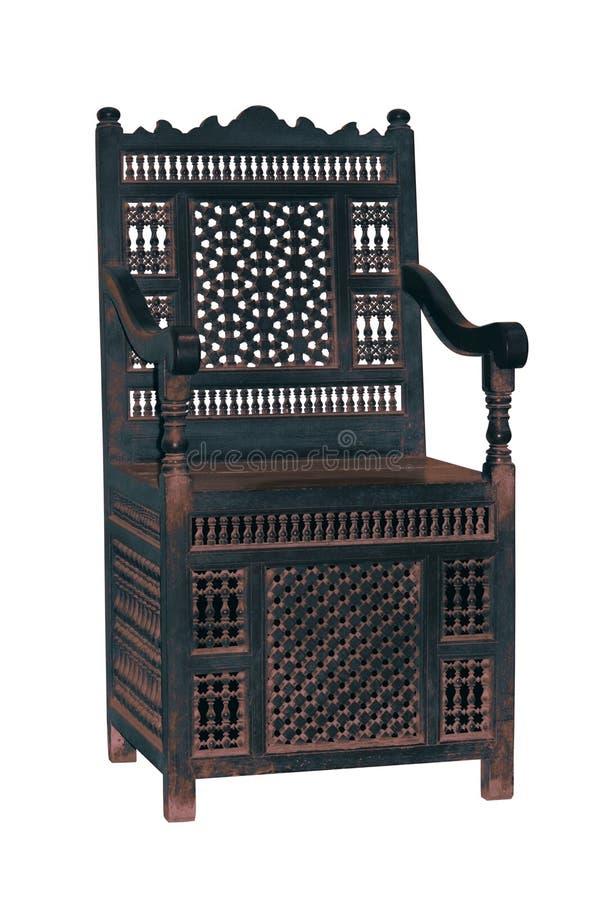 Silla vieja del arabesque fotografía de archivo libre de regalías