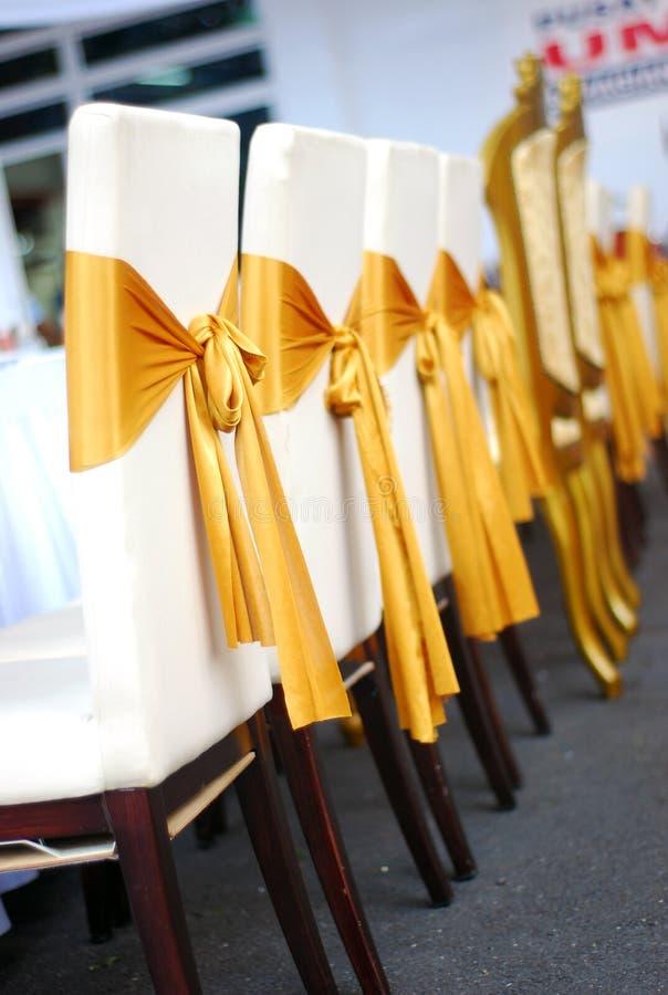 Silla Wedding de la cubierta fotos de archivo libres de regalías
