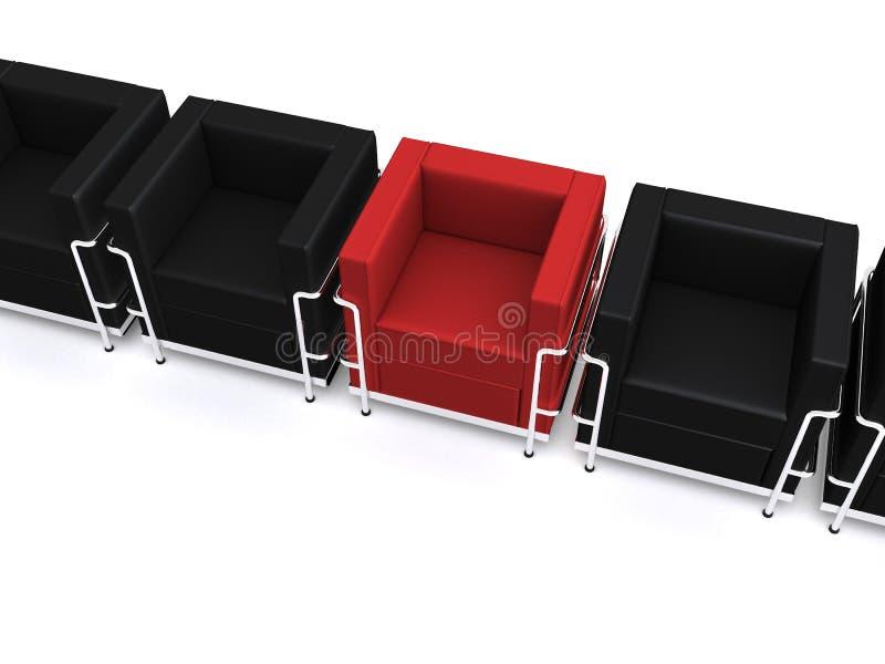 sillas 3d ilustración del vector
