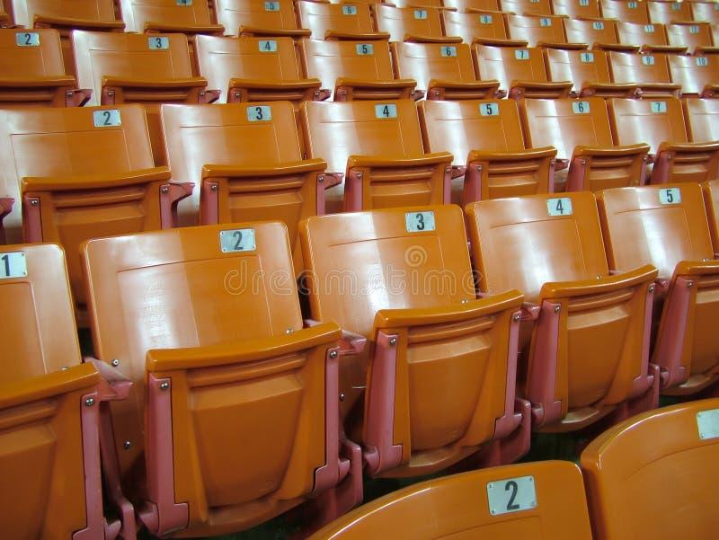 Download Sillas anaranjadas foto de archivo. Imagen de clase, asiento - 1291210