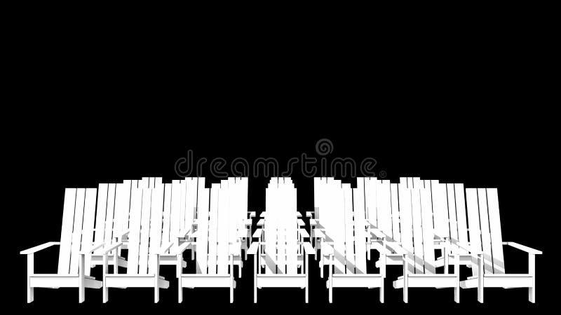Sillas blancas de Adirondack libre illustration