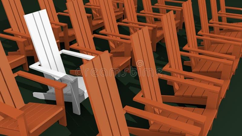 Sillas de Adirondack stock de ilustración