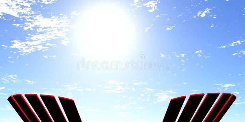 Sillas de Adirondack en sol libre illustration