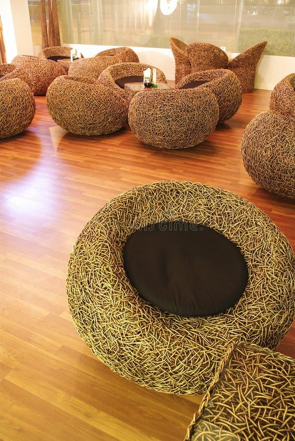 Sillas de bambú fotografía de archivo