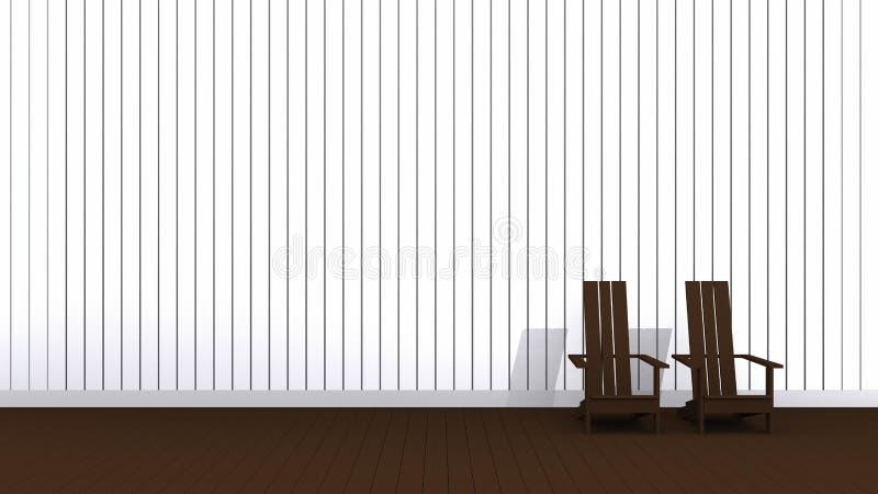 Sillas de Brown Adirondack ilustración del vector