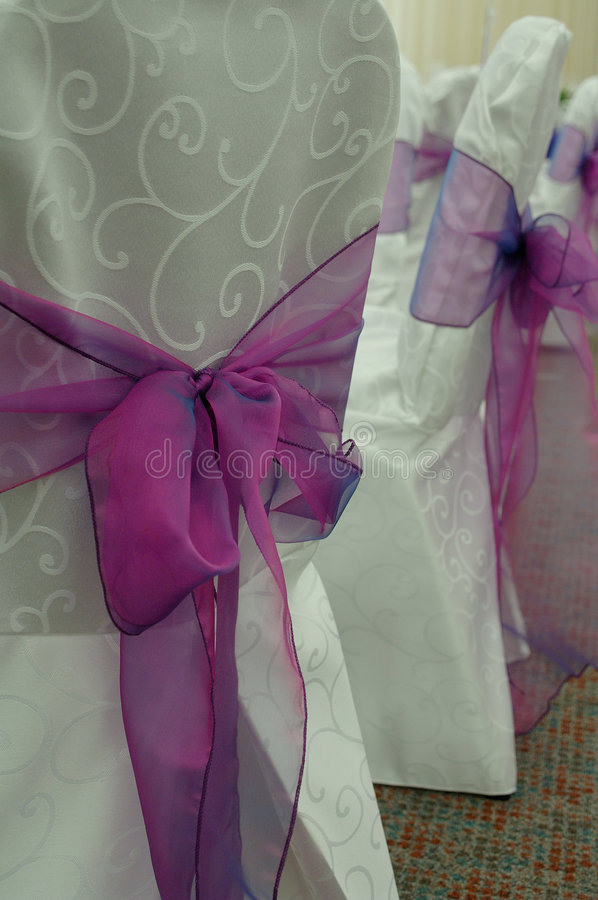 Sillas De La Boda Foto de archivo libre de regalías