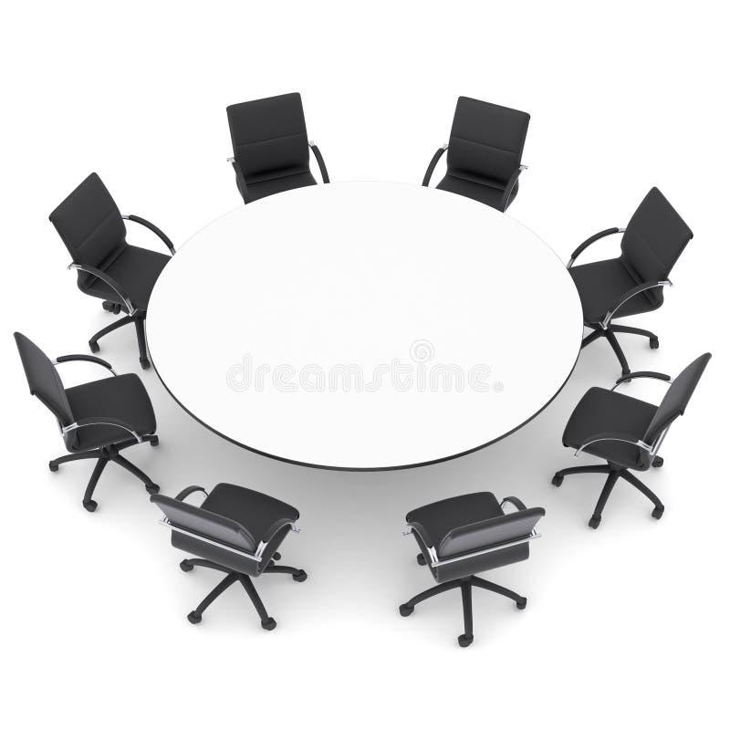 Sillas de la oficina y mesa redonda foto de archivo for Mesas y sillas de oficina