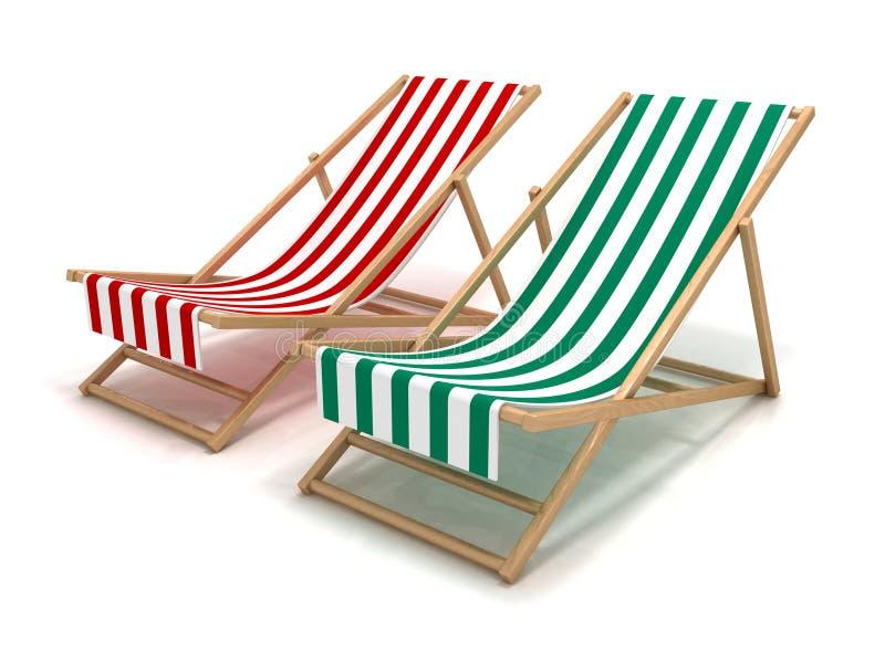 Sillas de playa ilustración del vector