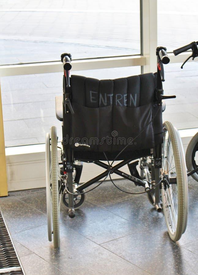 Sillas de ruedas en el hospital de Sunderby fotos de archivo libres de regalías