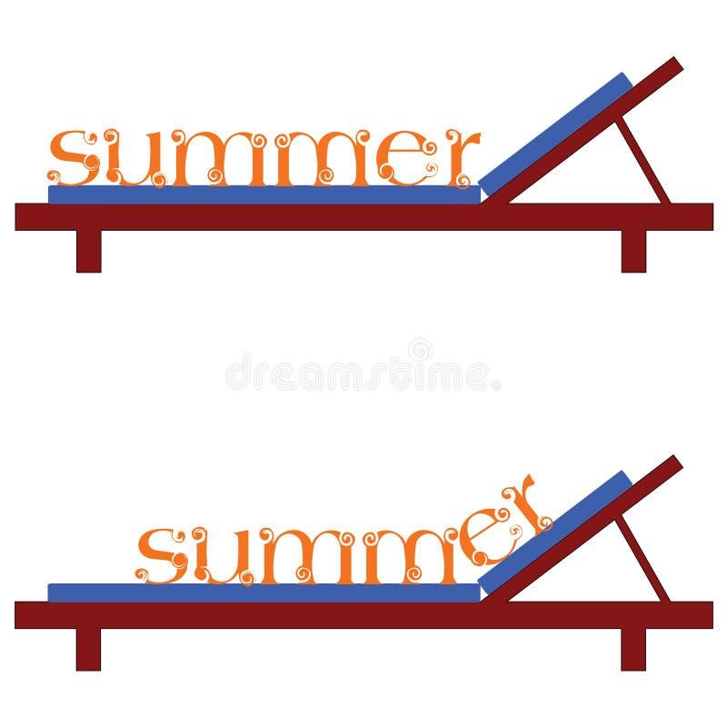 Sillas del verano para un ejemplo del vector de la playa libre illustration