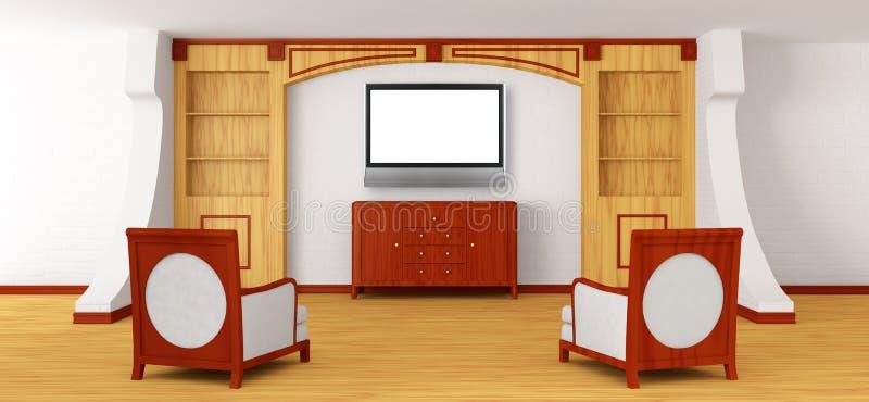 Sillas oficina y lcd lujosos tv con el estante para for Muebles de oficina lujosos