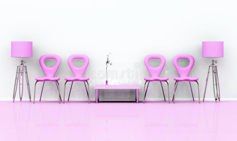Sillas rosadas stock de ilustración