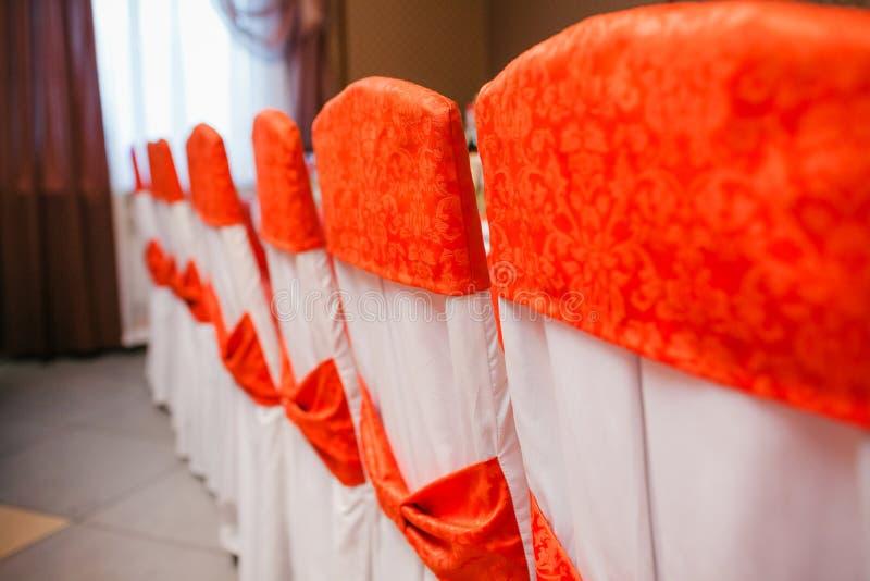 Sillas vacías de la boda foto de archivo libre de regalías