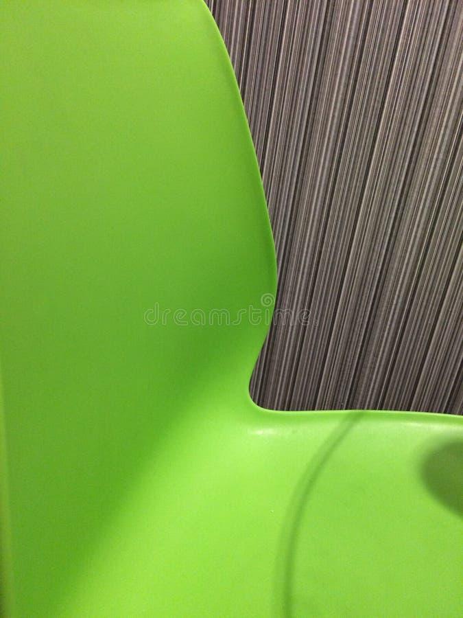 Sillas verdes fotos de archivo