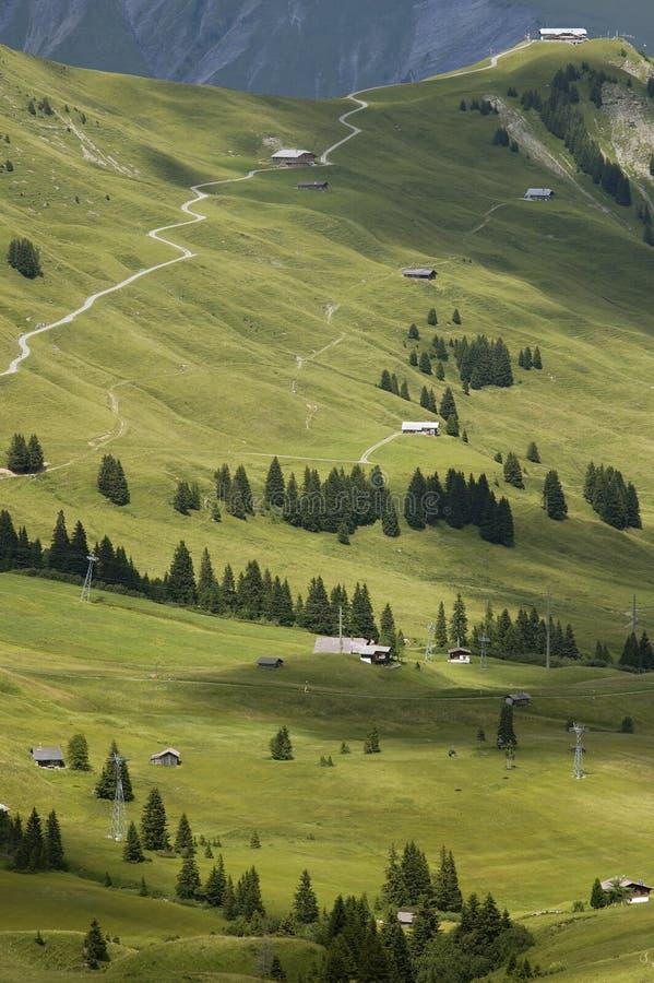 sillerenbuhl滑雪岗位 免版税库存图片