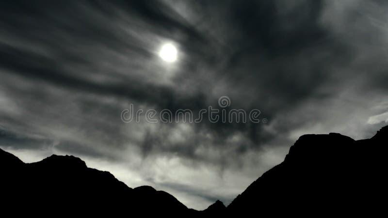 Sillhouette μιας κορυφογραμμής βουνών στοκ φωτογραφία με δικαίωμα ελεύθερης χρήσης