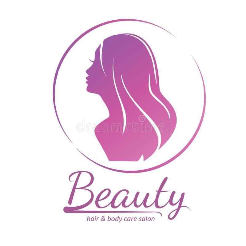 Sillhouette estilizado del estilo del pelo de la mujer fotos de archivo