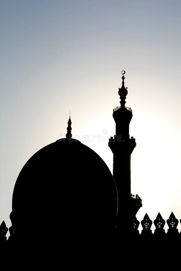 Sillhouette meczet zdjęcie royalty free